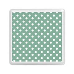 Mint Green Polka Dots Memory Card Reader (Square)