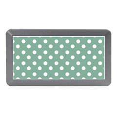 Mint Green Polka Dots Memory Card Reader (mini)