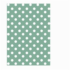 Mint Green Polka Dots Large Garden Flag (Two Sides)