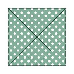 Mint Green Polka Dots Acrylic Tangram Puzzle (6  x 6 )