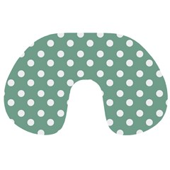 Mint Green Polka Dots Travel Neck Pillows