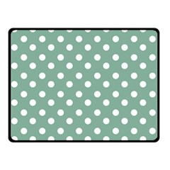 Mint Green Polka Dots Double Sided Fleece Blanket (Small)