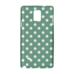 Mint Green Polka Dots Samsung Galaxy Note 4 Hardshell Case