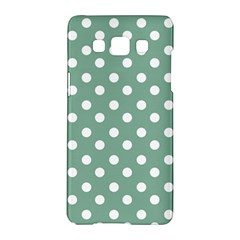 Mint Green Polka Dots Samsung Galaxy A5 Hardshell Case