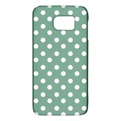 Mint Green Polka Dots Galaxy S6