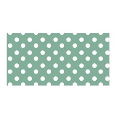 Mint Green Polka Dots Satin Wrap