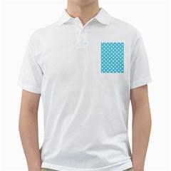 Sky Blue Polka Dots Golf Shirts