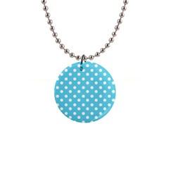Sky Blue Polka Dots Button Necklaces