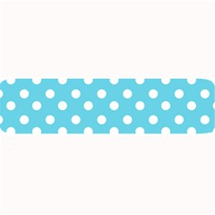 Sky Blue Polka Dots Large Bar Mats