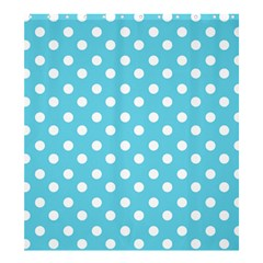 Sky Blue Polka Dots Shower Curtain 66  x 72  (Large)