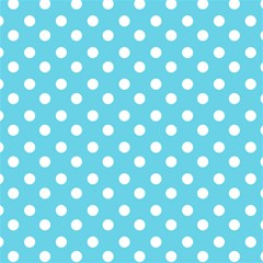 Sky Blue Polka Dots Magic Photo Cubes