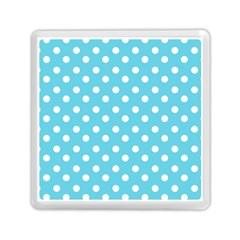 Sky Blue Polka Dots Memory Card Reader (Square)
