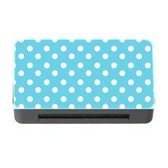 Sky Blue Polka Dots Memory Card Reader With Cf