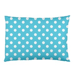 Sky Blue Polka Dots Pillow Cases (Two Sides)
