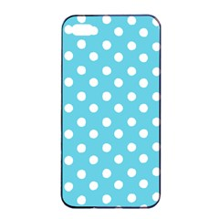 Sky Blue Polka Dots Apple Iphone 4/4s Seamless Case (black)