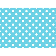 Sky Blue Polka Dots Birthday Cake 3D Greeting Card (7x5)