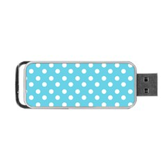 Sky Blue Polka Dots Portable USB Flash (One Side)
