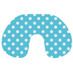 Sky Blue Polka Dots Travel Neck Pillows