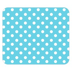 Sky Blue Polka Dots Double Sided Flano Blanket (Small)