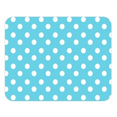 Sky Blue Polka Dots Double Sided Flano Blanket (Large)