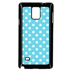 Sky Blue Polka Dots Samsung Galaxy Note 4 Case (black)