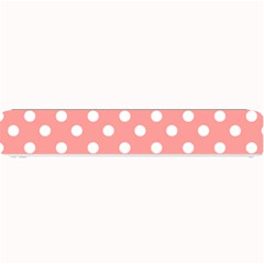 Coral And White Polka Dots Small Bar Mats