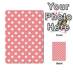 Coral And White Polka Dots Multi Purpose Cards (rectangle)