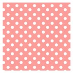 Coral And White Polka Dots Small Memo Pads 3.75 x3.75  Memopad