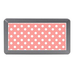 Coral And White Polka Dots Memory Card Reader (Mini)