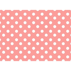 Coral And White Polka Dots Birthday Cake 3D Greeting Card (7x5)