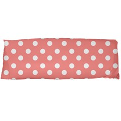 Coral And White Polka Dots Body Pillow Cases (dakimakura)