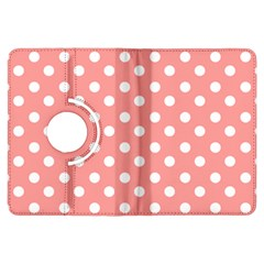 Coral And White Polka Dots Kindle Fire Hdx Flip 360 Case