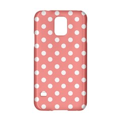 Coral And White Polka Dots Samsung Galaxy S5 Hardshell Case