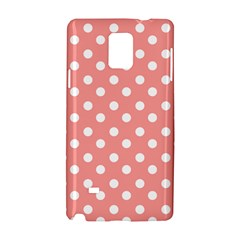 Coral And White Polka Dots Samsung Galaxy Note 4 Hardshell Case