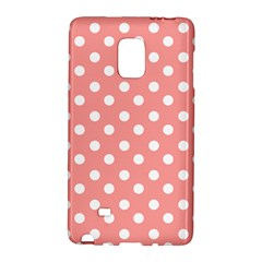 Coral And White Polka Dots Galaxy Note Edge