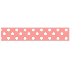 Coral And White Polka Dots Flano Scarf (large)