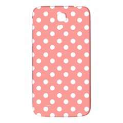 Coral And White Polka Dots Samsung Galaxy Mega I9200 Hardshell Back Case