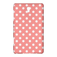 Coral And White Polka Dots Samsung Galaxy Tab S (8.4 ) Hardshell Case