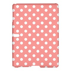 Coral And White Polka Dots Samsung Galaxy Tab S (10.5 ) Hardshell Case