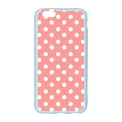 Coral And White Polka Dots Apple Seamless iPhone 6 Case (Color)