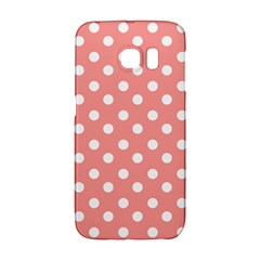 Coral And White Polka Dots Galaxy S6 Edge