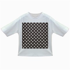 Brown And White Polka Dots Infant/toddler T Shirts