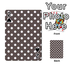 Brown And White Polka Dots Playing Cards 54 Designs