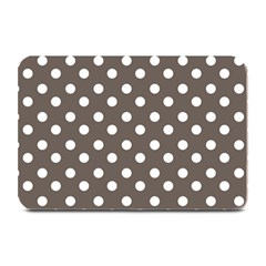 Brown And White Polka Dots Plate Mats