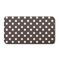 Brown And White Polka Dots Medium Bar Mats