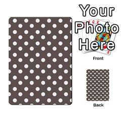 Brown And White Polka Dots Multi Purpose Cards (rectangle)