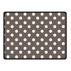 Brown And White Polka Dots Fleece Blanket (Small)