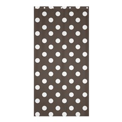 Brown And White Polka Dots Shower Curtain 36  x 72  (Stall)