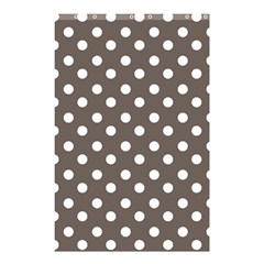 Brown And White Polka Dots Shower Curtain 48  x 72  (Small)