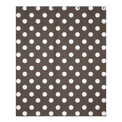 Brown And White Polka Dots Shower Curtain 60  x 72  (Medium)